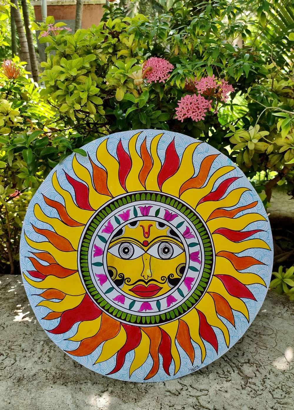 Sun Madhubani art