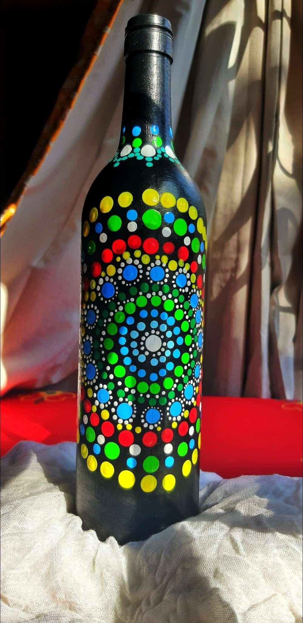 Mandala Bottle Art