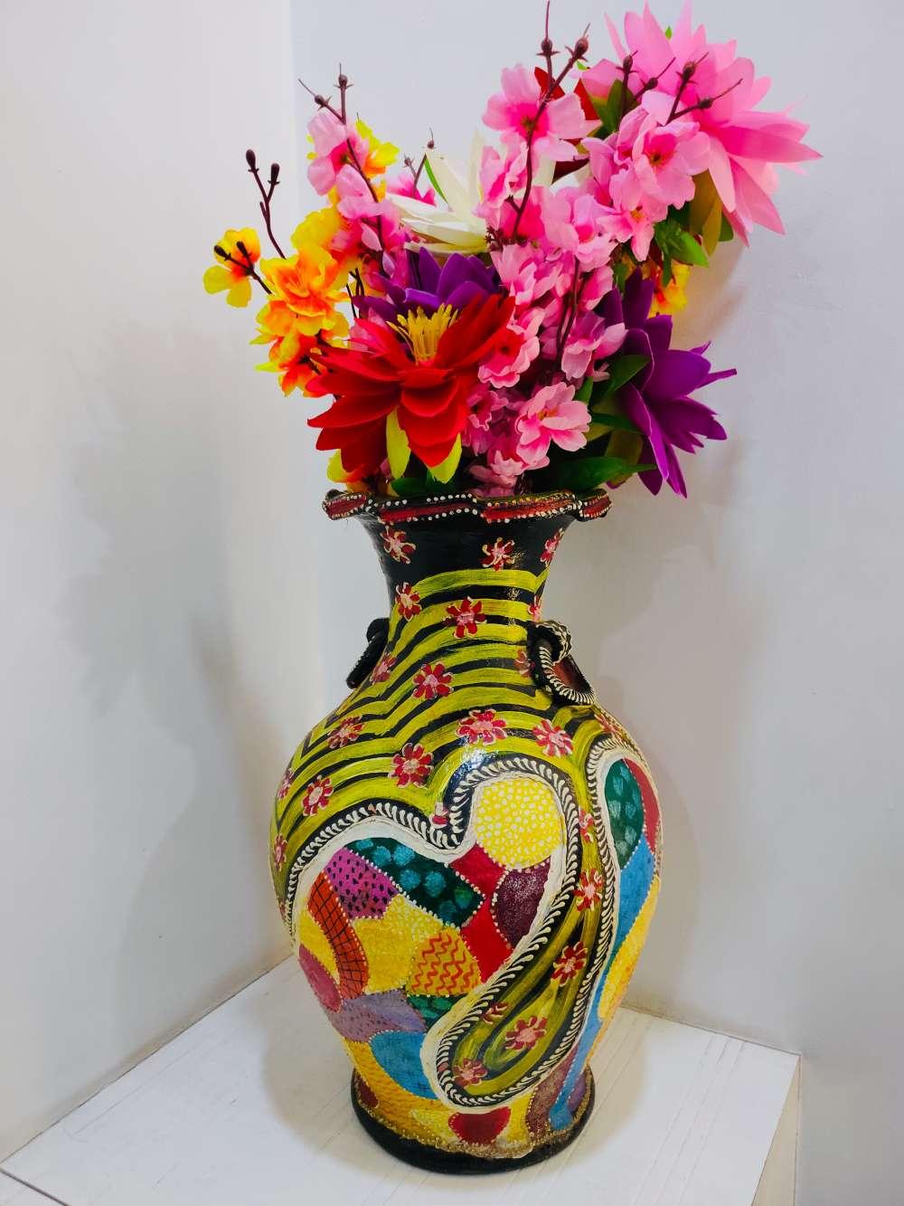 Pattern pot painting