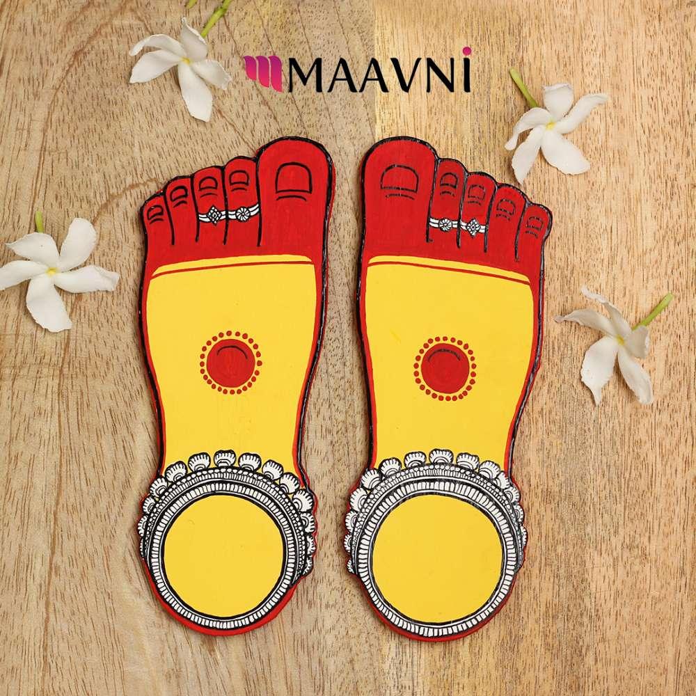 Maa Laxmi Feet Cutout