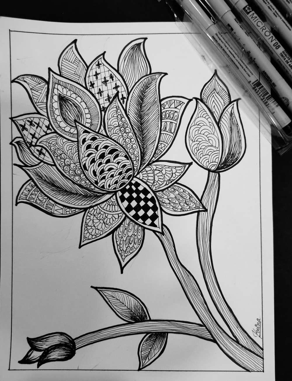 Lotus doodle art