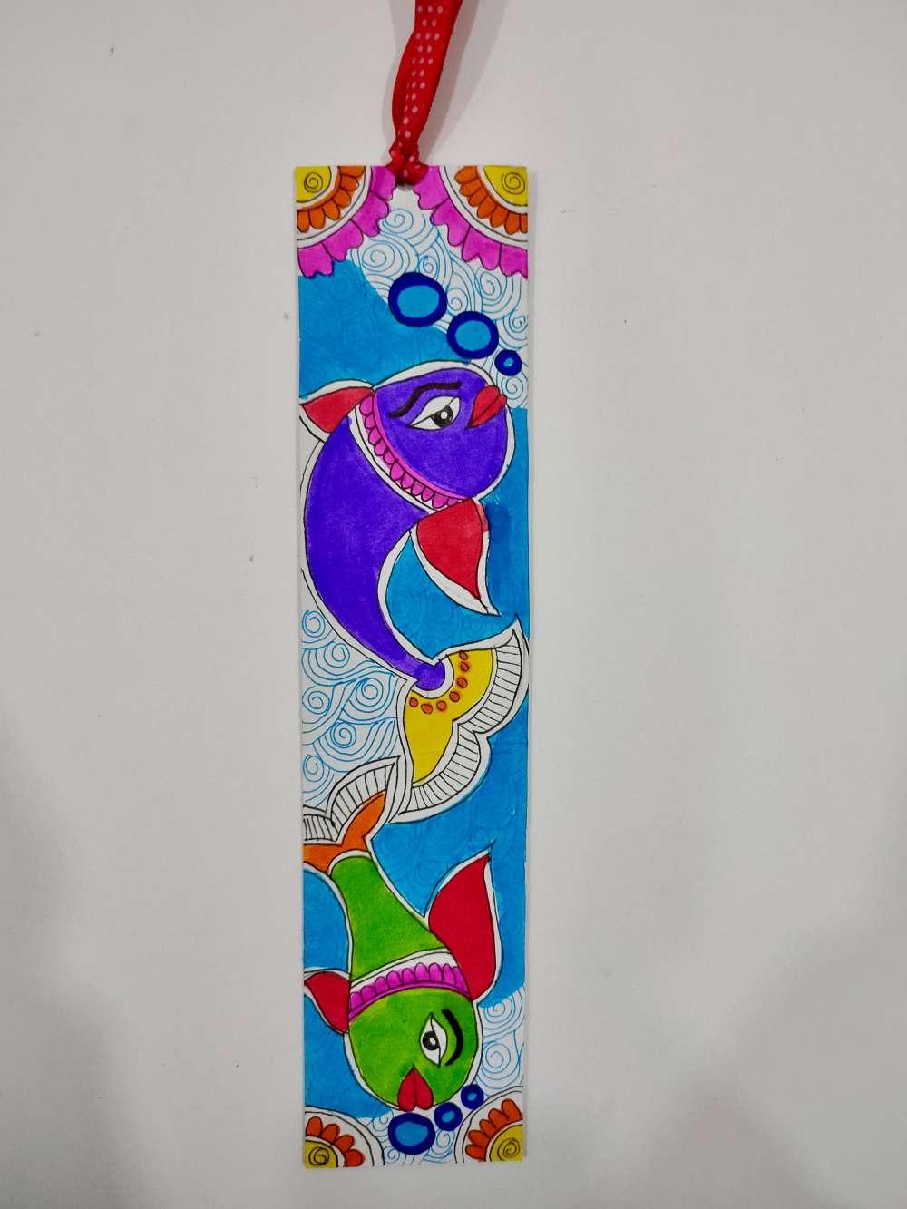 Fish Madhubani bookmark