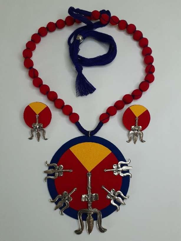 Handmade Fabric Jwellery set