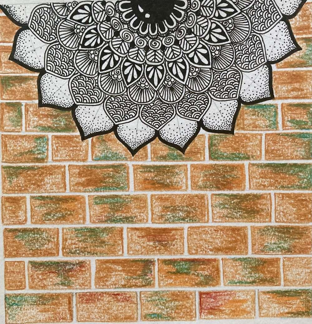 Mandala on wall art print