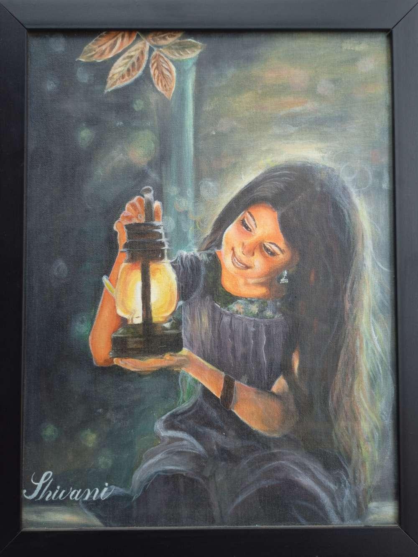 Oil colour Portrait of girl