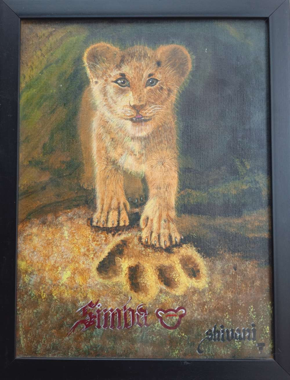Lion King poster painting